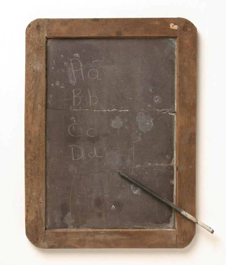 how to clean a slate chalkboard