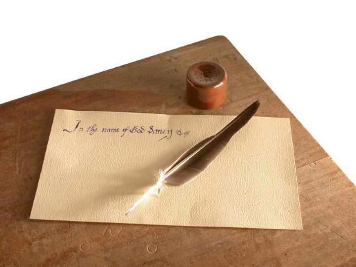 Sand Shaker & Quill Pen, Tudor, Replica | Object Lessons ...