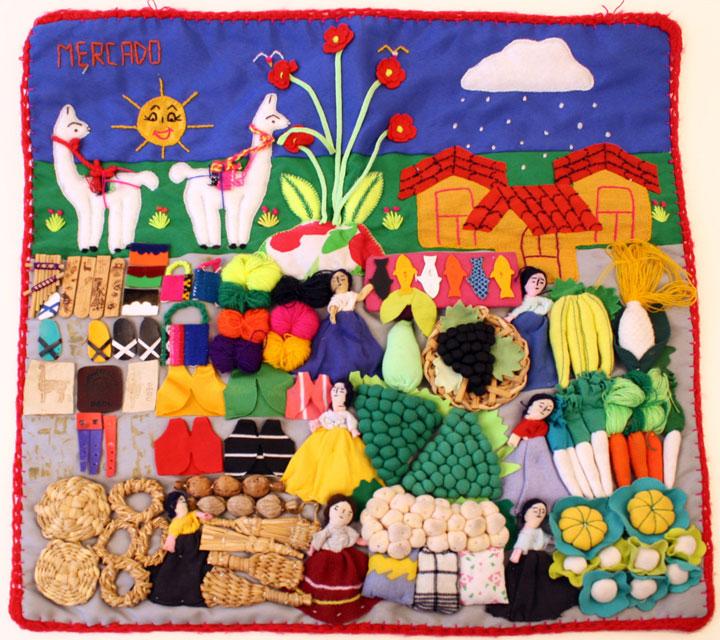 Arpillera Market Scene Peru Object Lessons Conflict