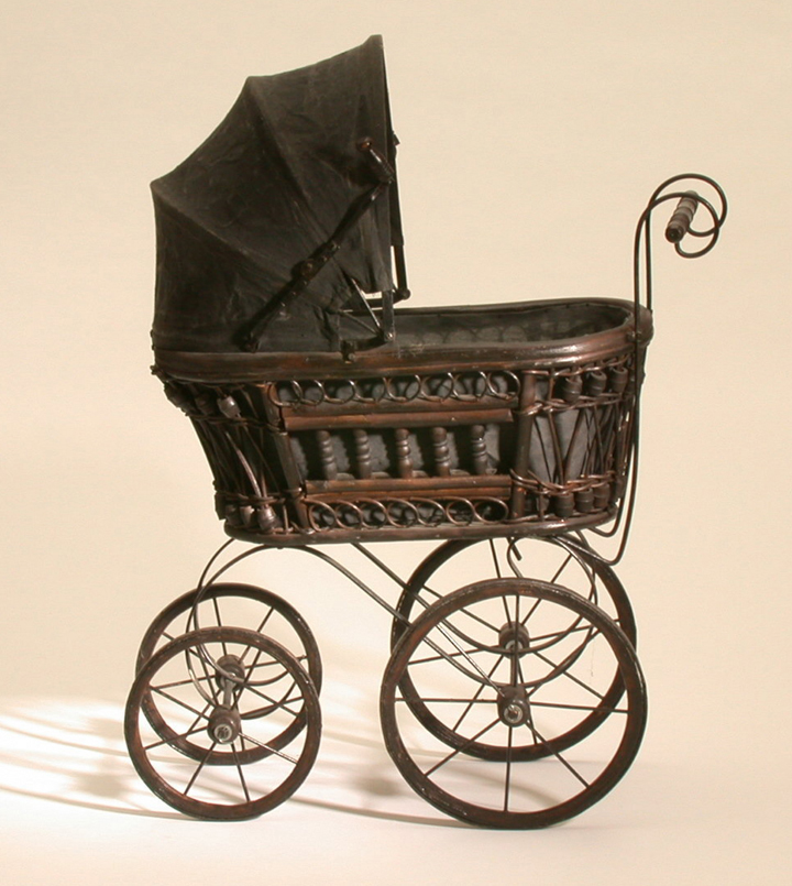 Toys For The Wealthy : Doll s pram victorian replica object lessons